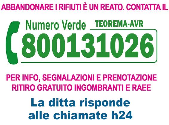 numero verde 8001311026